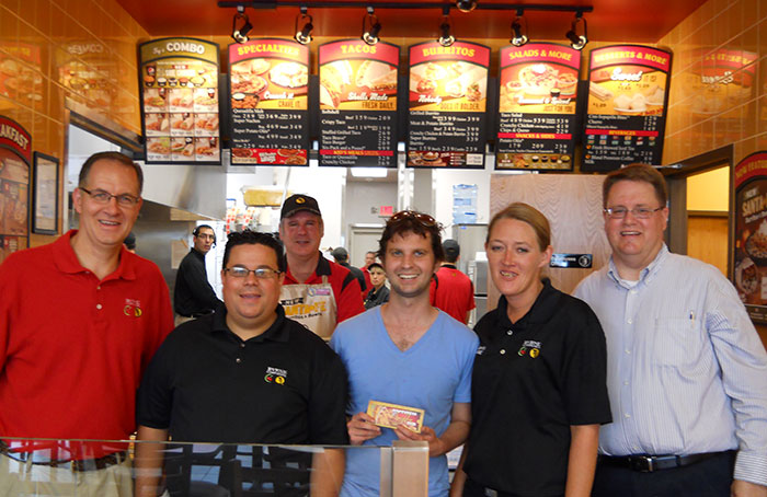 Taco John's grand opening at our Mexican franchise