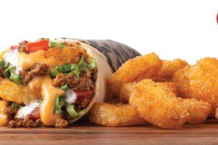 A Meat & Potato Burrito and a side of Potato Olés®