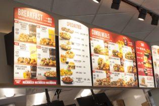 Taco Johns franchise in-store menu