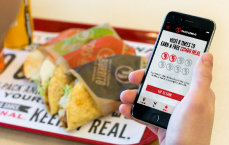 Taco Johns franchise - TJ Rewards app on iPhone