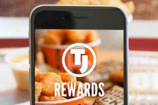 Taco Johns franchise TJ® Rewards app on phone