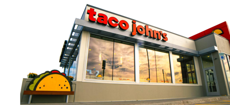 taco johns modern store front