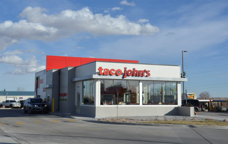 Exterior image of a Taco John's location