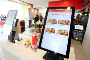 Touch screens are a new feature inside the new Taco John's location on South Greeley Highway on Friday, Oct. 18, 2019, in south Cheyenne. Michael Cummo/Wyoming Tribune Eagle