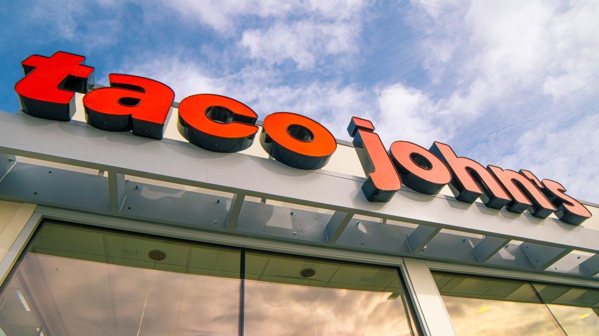 Taco John's signage
