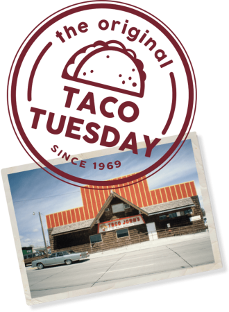 the original taco tuesday with a store front